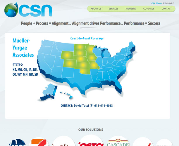 csn screenshot WordPress website design for Consolidated Sales Network