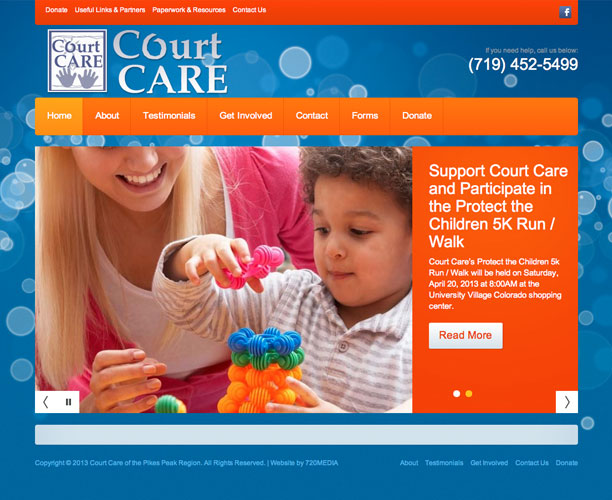 court care screenshot Court Care Nonprofit WordPress Website Design