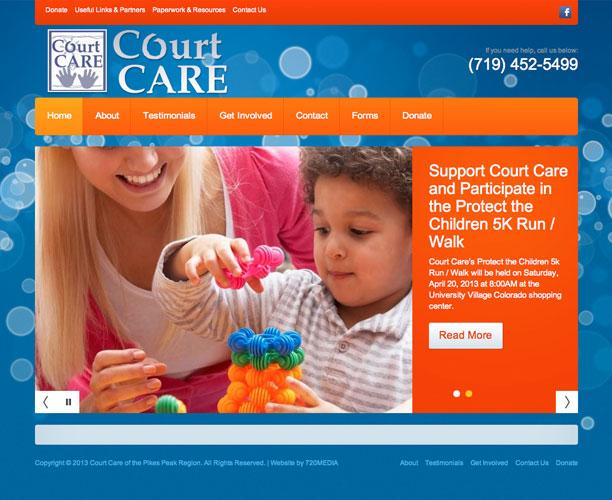 court care screenshot Court Care Nonprofit WordPress Website Design