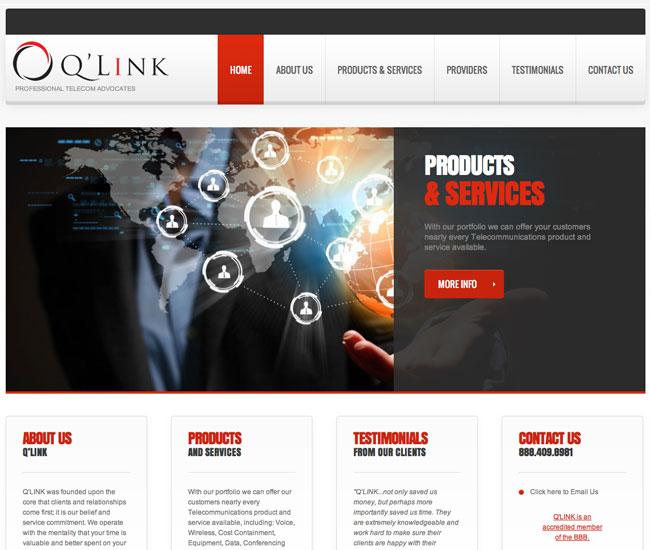 screen qlink QLINK Website Design Colorado Springs