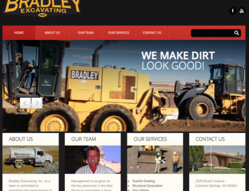 Colorado Springs Excavating Website Design