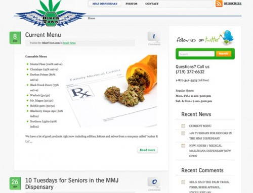 Medical marijuana social media marketing, website design, logo, business cards