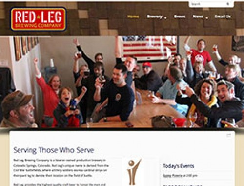 Brewery website design for Red Leg in Colorado Springs